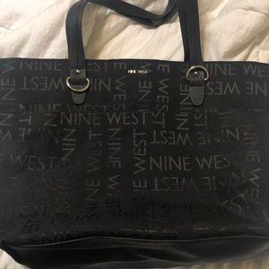 Nine West black print hand bag